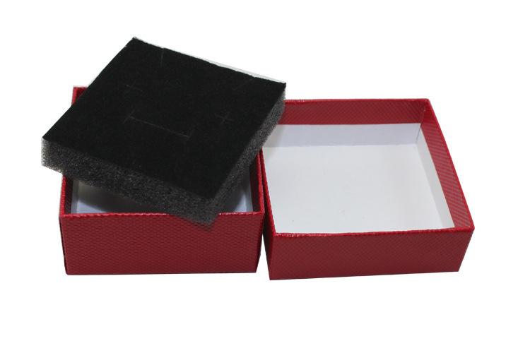 Custom jewelry packaging box with black velvet pad insert for Custom jewelry packaging manufacturers