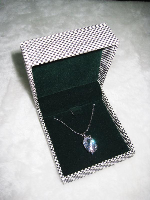 Custom Leather Jewelry Gift Boxes Black White Plaid Aime