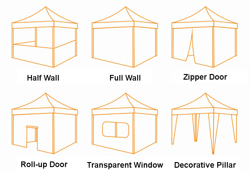 Custom pop up canopy tent with walls