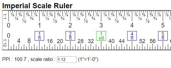 scale ruler online w imperial unitin ft yd mi