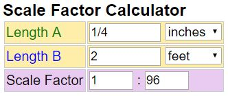 Scale Factor Calculator - find the scale ratio of 2 lengths