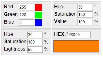 RGB to HSV, HSL - free online color codes converter