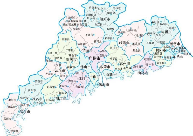 广东省地图灿头市多少公里图片