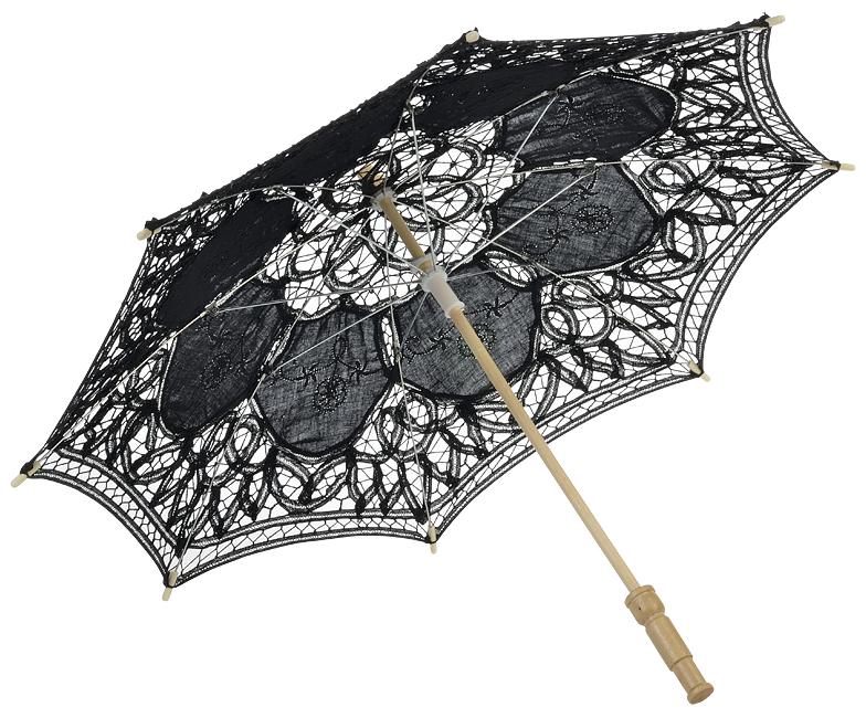 22 Black Lace Parasol Umbrella Wedding Parasol Wholesale