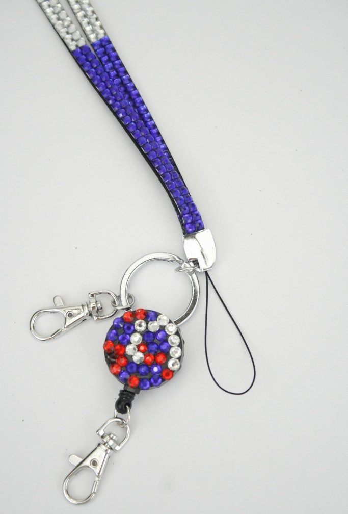 Wholesale Rhinestone Retractable Badge Reel Lanyards - China ...