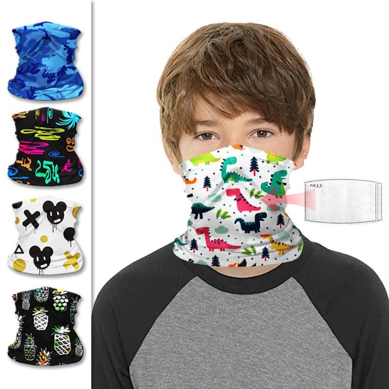 Kids Neck Gaiter With Filter Pocket Cool Face Mask