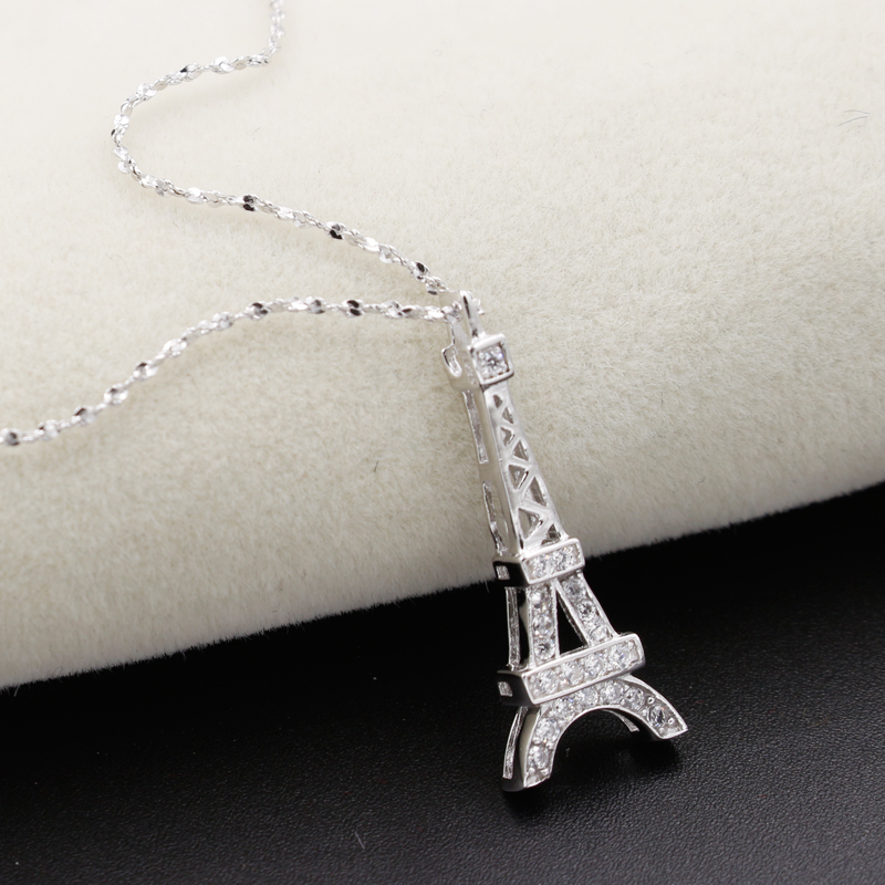 Sterling silver eiffel tower necklace necklace wallpaper paris eiffel tower pendant sterling 925 silver necklace whole mozeypictures Image collections